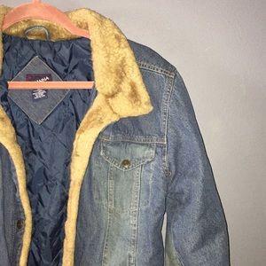 Vintage Faux Fur Jean Jacket